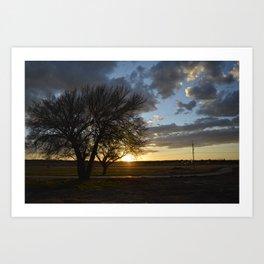 Sunset around the block from home Art Print