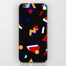 Memphis geometric pattern #2 iPhone Skin