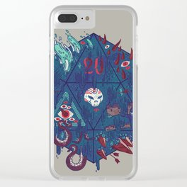 Die of Death Clear iPhone Case