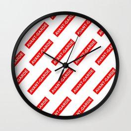 avant garde print Wall Clock