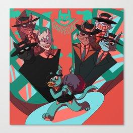 Grave Cat Canvas Print