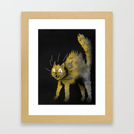 Scaredy Cat Framed Art Print