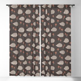 Hedgehogs and Mushrooms Love Autumn Blackout Curtain