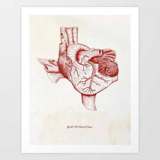 The Heart of Texas (Tech) Art Print