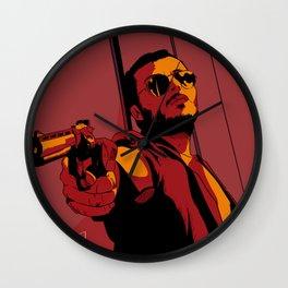 Man with gun Wall Clock