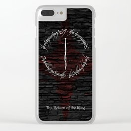 You bow to no one Clear iPhone Case