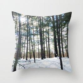 Winter Woods1 Throw Pillow