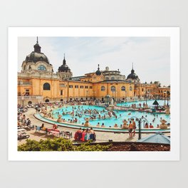 A Day at the Thermal Baths Art Print