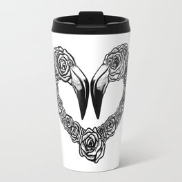 Flamingo Heart Travel Mug