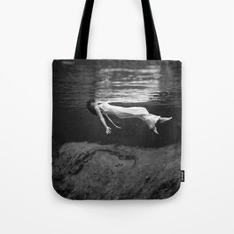 Black and White Fashion Print - Vintage Underwater Tote Bag
