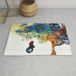 Colorful Landscape Art - The Dreaming Tree - By Sharon Cummings Rug