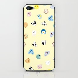 Cute Chibi animals pattern iPhone Skin