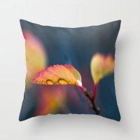 leaf Throw Pillows featuring Leaf by Dora Birgis