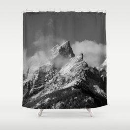 The Peak of the Mountain Shower Curtain
