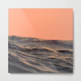 Peach Waves Metal Print
