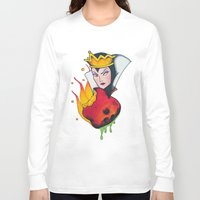 evil queen Long Sleeve T-shirts featuring Evil Queen #1 by Jeef