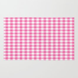 Pink Roses in Anzures 1 Gingham 2 Rug