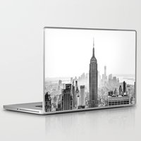 new york city Laptop & iPad Skins featuring New York City by Studio Laura Campanella