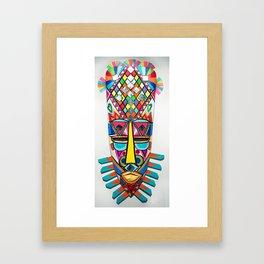 AFRICAN METEORO MASK . HADN MADE WOOD Framed Art Print