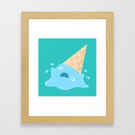 Dessert Death - Melting Ice Cream Framed Art Print