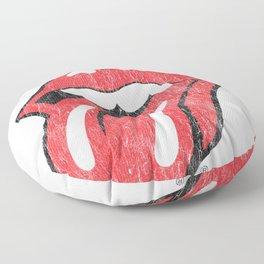 The Rolling Stones Script Tongue Logo Sweatshirt Sweatshirt Floor Pillow