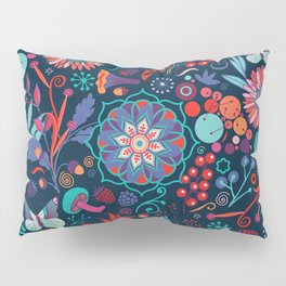 Ripe autumn – cyan and red Pillow Sham