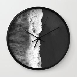 The Sea (Black and White) Wall Clock