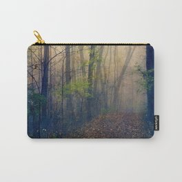 Wandering in a Foggy Woodland Carry-All Pouch