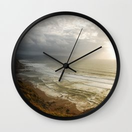 Nature photography. Barrika Beach, Basque Country. Spain. Wall Clock