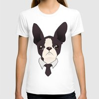boston terrier T-shirts featuring Boston Terrier by neokeia