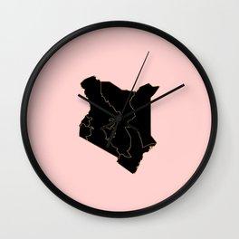 Kenya map Wall Clock