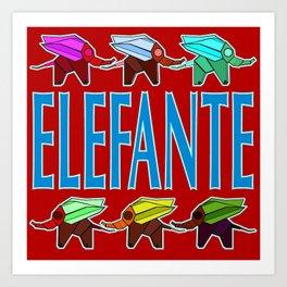 Elefante 2 Art Print