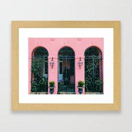 The Pink House Framed Art Print