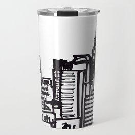 City Landscape monochromatic Travel Mug