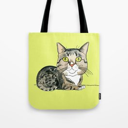 Green-eyed Cat Tote Bag