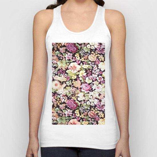 Floral Pattern in Bloom (Bright Flowers) Unisex Tank Top