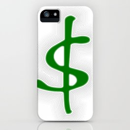 Shrinking Dollar iPhone Case
