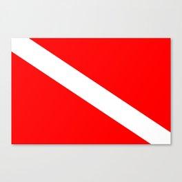 Diver Down Flag Canvas Print