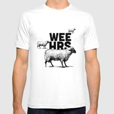 WeeHours SMALL White Mens Fitted Tee