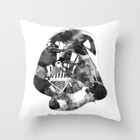 vader Throw Pillows featuring Vader by DanielBergerDesign