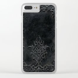 Tribal Edging Book Cover Dark Clear iPhone Case