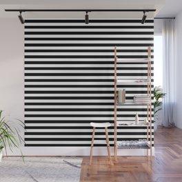 black and white horizintal stripes Wall Mural