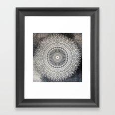 DESERT MOON MANDALA Framed Art Print