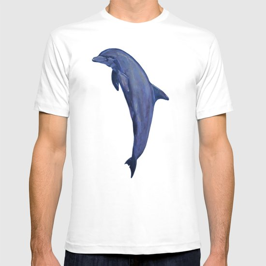 dolphin with flower of life T-shirt