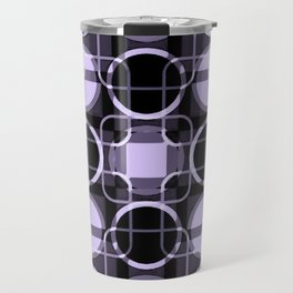 Dark and light Geometric Lavender Cirles Travel Mug