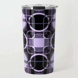 Dark and light Geometric Lavender Cirles Travel Mug