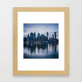 Manhattan after the sunset Framed Art Print