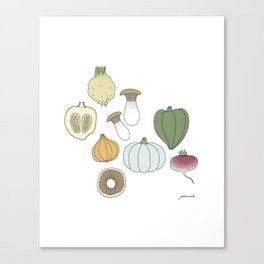 Vegetables (color) Canvas Print