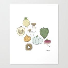 Vegetables (color) Canvas Print