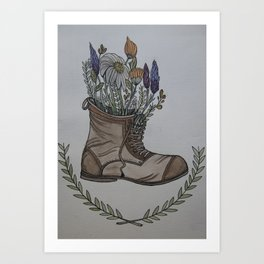 Where Wild Flowers Grow Art Print